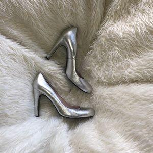 Metallic Silver Marc by Marc Jacobs heels